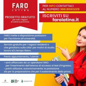 promuovere i servizi di FARO Latina
